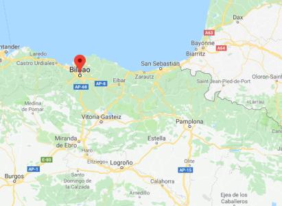 Kaart Noord-Spanje