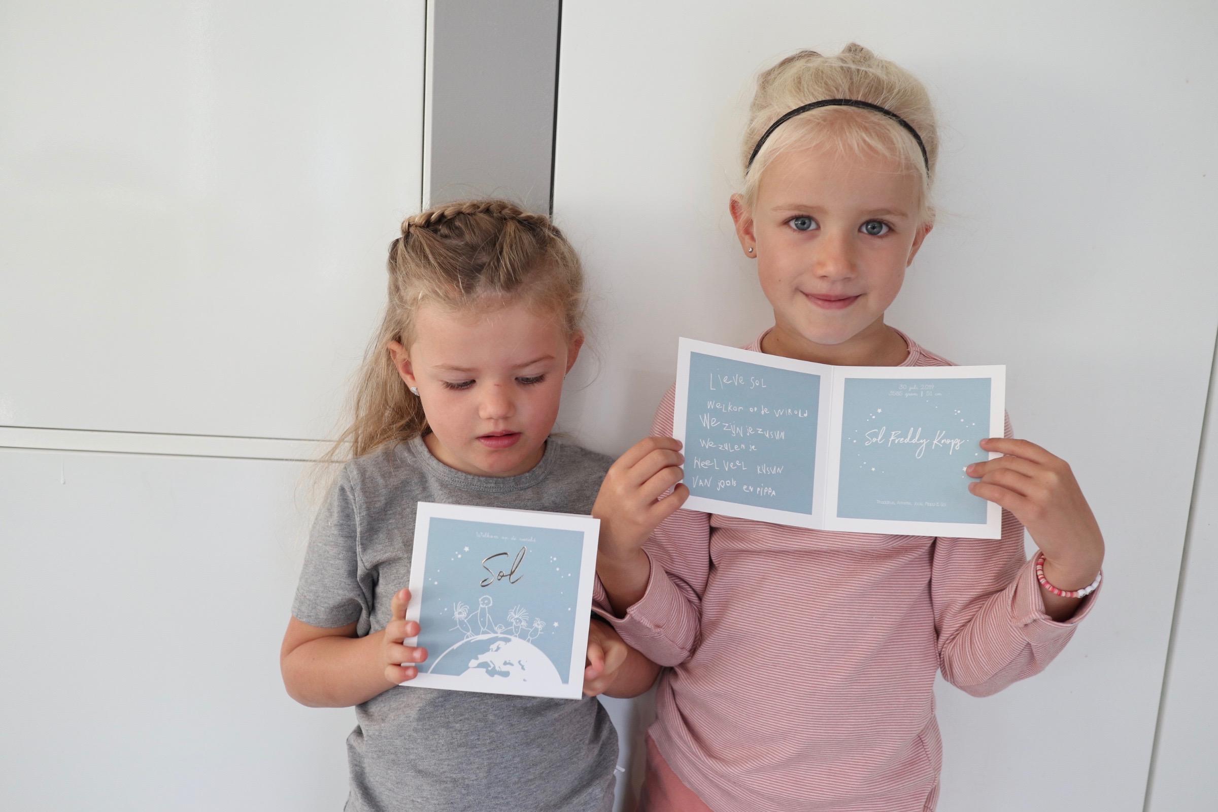 Geboortekaartje Sol Lief Leuk & Eigen MOMspiration The Flying Dutch Family